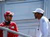 GP RUSSIA, 30.04.2017 - Sebastian Vettel (GER) Ferrari SF70H e Lewis Hamilton (GBR) Mercedes AMG F1 W08 at drivers parade