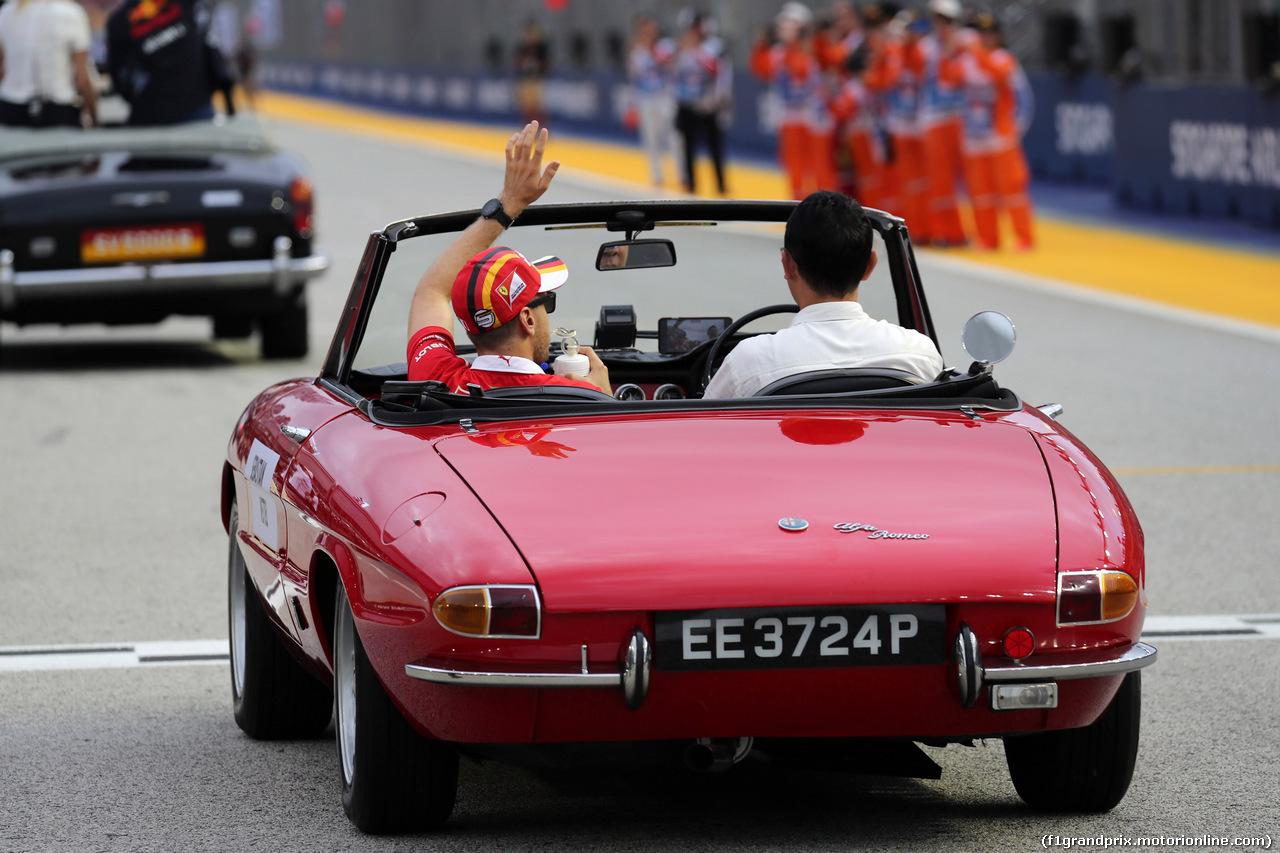 GP SINGAPORE, 17.09.2017 - Sebastian Vettel (GER) Ferrari SF70H