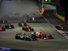 GP SINGAPORE, 17.09.2017 - Gara, Start of the race, Kimi Raikkonen (FIN) Ferrari SF70H after the crash  with Max Verstappen (NED) Red Bull Racing RB13 e Sebastian Vettel (GER) Ferrari SF70H