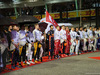 GP SINGAPORE, 17.09.2017 - Gara, The drives observe the national anthem