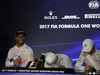 GP SINGAPORE, 17.09.2017 - Gara, Conferenza Stampa, Daniel Ricciardo (AUS) Red Bull Racing RB13, Lewis Hamilton (GBR) Mercedes AMG F1 W08 e Valtteri Bottas (FIN) Mercedes AMG F1 W08