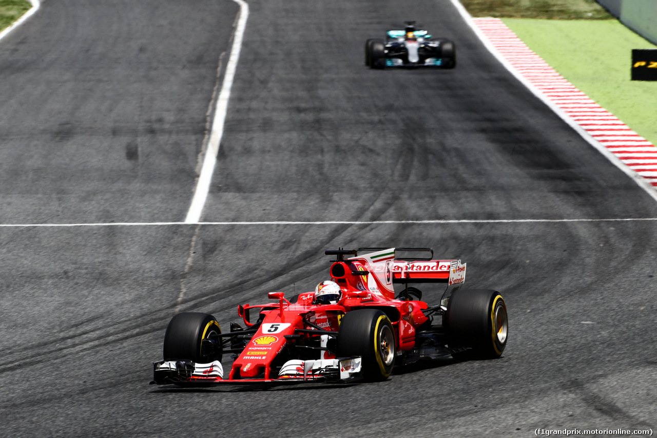 GP SPAGNA, Sebastian Vettel (GER) Ferrari SF70H. 14.05.2017.