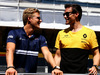 GP SPAGNA, (L to R): Marcus Ericsson (SWE) Sauber F1 Team e Jolyon Palmer (GBR) Renault Sport F1 Team on the drivers parade. 14.05.2017.