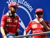 GP SPAGNA, (L to R): Sebastian Vettel (GER) Ferrari e Kimi Raikkonen (FIN) Ferrari on the drivers parade. 14.05.2017.