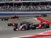 GP STATI UNITI, 22.10.2017 - Gara, Esteban Ocon (FRA) Sahara Force India F1 VJM10 e Kimi Raikkonen (FIN) Ferrari SF70H