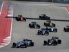 GP STATI UNITI, 22.10.2017 - Gara, Marcus Ericsson (SUE) Sauber C36 e Romain Grosjean (FRA) Haas F1 Team VF-17