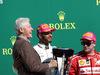 GP STATI UNITI, 22.10.2017 - Gara, Bill Clinton (USA), Lewis Hamilton (GBR) Mercedes AMG F1 W08 vincitore e Kimi Raikkonen (FIN) Ferrari SF70H