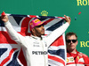 GP STATI UNITI, 22.10.2017 - Gara, Lewis Hamilton (GBR) Mercedes AMG F1 W08 vincitore e 3rd place Kimi Raikkonen (FIN) Ferrari SF70H
