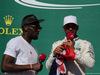 GP STATI UNITI, 22.10.2017 - Gara, Usain Bolt (JAM) e Lewis Hamilton (GBR) Mercedes AMG F1 W08 vincitore