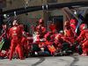 GP STATI UNITI, 22.10.2017 - Gara, Pit stop, Sebastian Vettel (GER) Ferrari SF70H