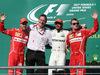 GP STATI UNITI, 22.10.2017 - Gara, 2nd place Sebastian Vettel (GER) Ferrari SF70H, James Allison (GBR) Mercedes AMG F1, Technical Director, Lewis Hamilton (GBR) Mercedes AMG F1 W08 vincitore e 3rd place Kimi Raikkonen (FIN) Ferrari SF70H