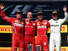 GP UNGHERIA, 30.07.2017 - Gara, 2nd place Kimi Raikkonen (FIN) Ferrari SF70H, Jock Clear (GBR) Ferrari Engineering Director, Sebastian Vettel (GER) Ferrari SF70H vincitore e 3rd place Valtteri Bottas (FIN) Mercedes AMG F1 W08