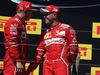 GP UNGHERIA, 30.07.2017 - Gara, 2nd place Kimi Raikkonen (FIN) Ferrari SF70H e Sebastian Vettel (GER) Ferrari SF70H vincitore