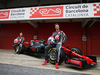 HAAS VF-17, (L to R): Kevin Magnussen (DEN) Haas F1 Team e team mate Romain Grosjean (FRA) Haas F1 Team unveil the Haas VF-17. 27.02.2017.