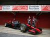 HAAS VF-17, (L to R): Kevin Magnussen (DEN) Haas F1 Team e team mate Romain Grosjean (FRA) Haas F1 Team unveil the Haas VF-17. 27.02.2017