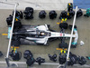 MERCEDES W08 HYBRID, Lewis Hamilton (GBR) Mercedes AMG F1 W08 practices a pit stop. 23.02.2017.