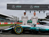 MERCEDES W08 HYBRID, (L to R): Lewis Hamilton (GBR) Mercedes AMG F1 with Valtteri Bottas (FIN) Williams e the Mercedes AMG F1 W08. 23.02.2017.