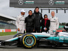 MERCEDES W08 HYBRID, Lewis Hamilton (GBR) Mercedes AMG F1; Toto Wolff (GER) Mercedes AMG F1 Shareholder e Executive Director; e Valtteri Bottas (FIN) Mercedes AMG F1, with guests. 23.02.2017.