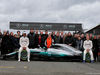MERCEDES W08 HYBRID, (L to R): Lewis Hamilton (GBR) Mercedes AMG F1 e Valtteri Bottas (FIN) Mercedes AMG F1 with the Mercedes AMG F1 W08 e guests. 23.02.2017.