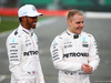MERCEDES W08 HYBRID, (L to R): Lewis Hamilton (GBR) Mercedes AMG F1 with team mate Valtteri Bottas (FIN) Mercedes AMG F1. 23.02.2017.