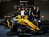 RENAULT RS17, (L to R): Nico Hulkenberg (GER) Renault Sport F1 Team; Pepijn Richter, Microsoft Director of Product Marketing; Jolyon Palmer (GBR) Renault Sport F1 Team; Mandhir Singh, Castol COO; Sergey Sirotkin (RUS) Renault Sport F1 Team Third Driver; Tommaso Volpe, Infiniti Global Director of Motorsport, e the Renault Sport F1 Team RS17. 21.02.2017.