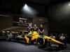 RENAULT RS17, (L to R): Nico Hulkenberg (GER) Renault Sport F1 Team; Jolyon Palmer (GBR) Renault Sport F1 Team; Sergey Sirotkin (RUS) Renault Sport F1 Team Third Driver; with the Renault Sport F1 Team RS17. 21.02.2017.