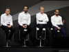 RENAULT RS17, (L to R): Bob Bell (GBR) Renault Sport F1 Team Chief Technical Officer with Cyril Abiteboul (FRA) Renault Sport F1 Managing Director; Jerome Stoll (FRA) Renault Sport F1 President; e Thierry Koskas, Renault Executive Vice President of Sales e Marketing. 21.02.2017.