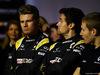 RENAULT RS17, (L to R): Nico Hulkenberg (GER) Renault Sport F1 Team with Jolyon Palmer (GBR) Renault Sport F1 Team e Sergey Sirotkin (RUS) Renault Sport F1 Team Third Driver. 21.02.2017.