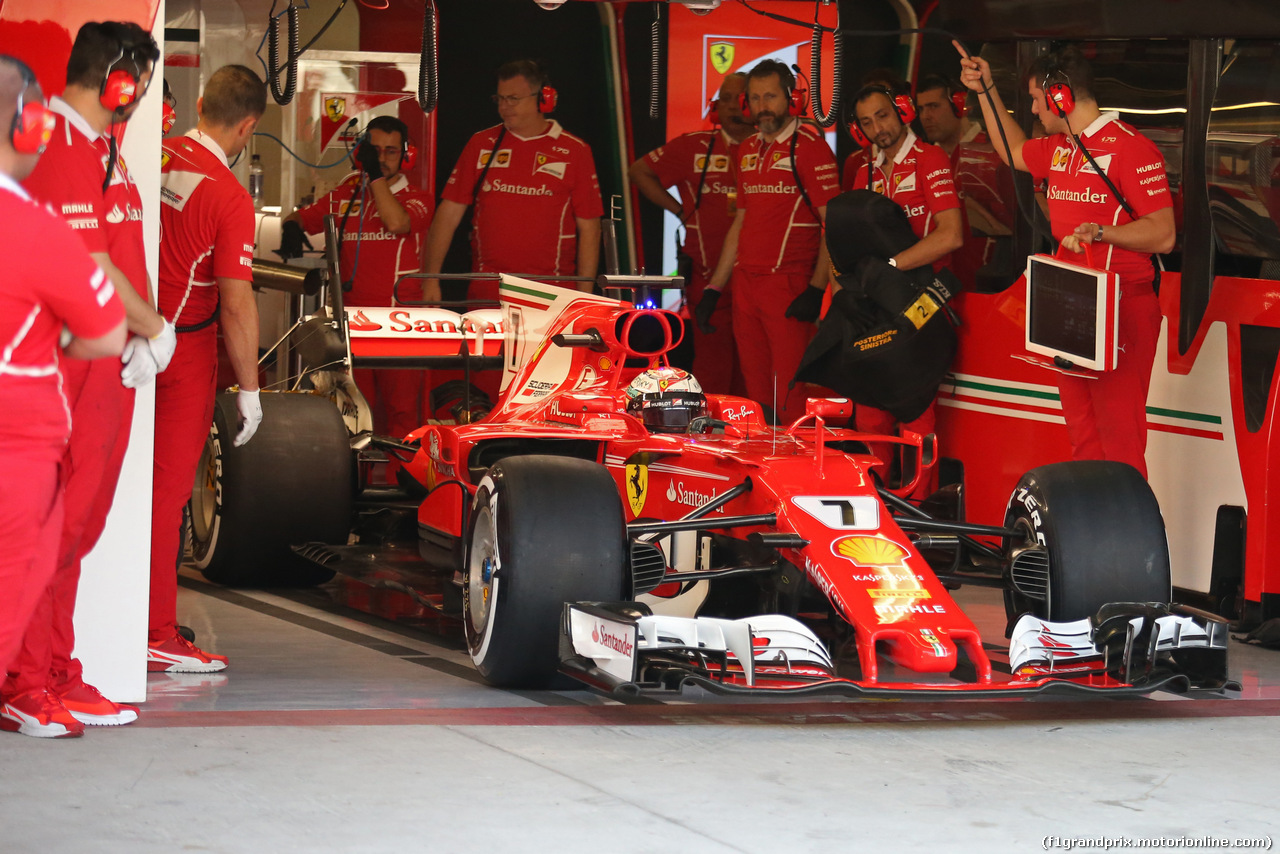 TEST ABU DHABI 28 NOVEMBRE, Kimi Raikkonen (FIN) Ferrari  28.11.2017.