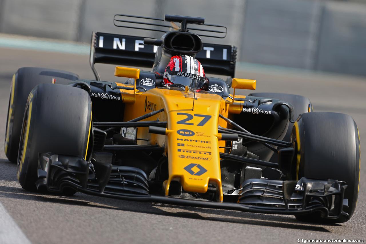 TEST ABU DHABI 28 NOVEMBRE, Nico Hulkenberg (GER) Renault Sport F1 Team  28.11.2017. F