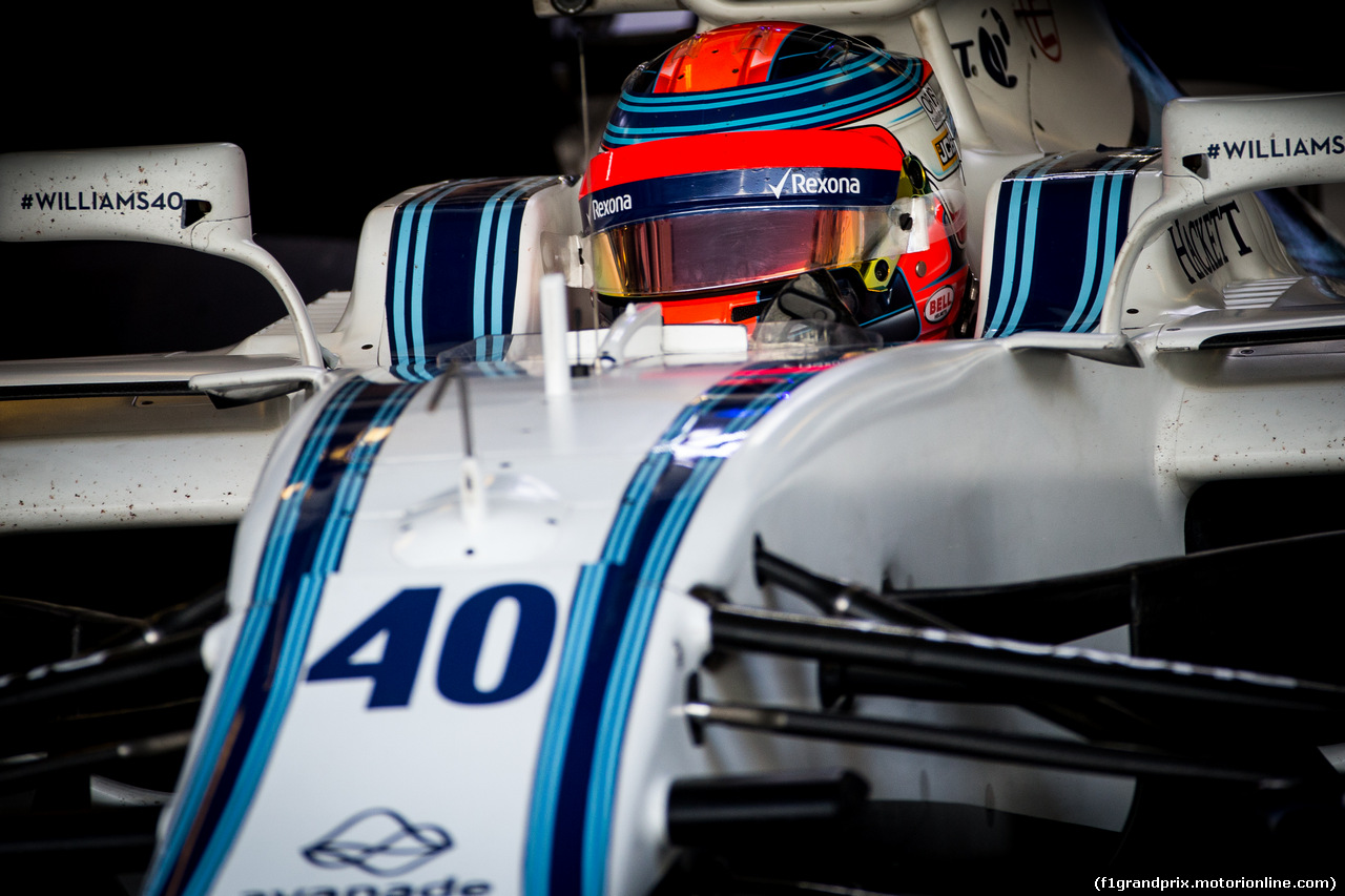 TEST ABU DHABI 28 NOVEMBRE, Robert Kubica (POL), Williams F1 Team. 28.11.2017.