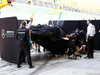 TEST F1 BAHRAIN 18 APRILE, The Mercedes AMG F1 W08 of Lewis Hamilton (GBR) Mercedes AMG F1 is recovered back to the pits on the back of a truck. 18.04.2017.