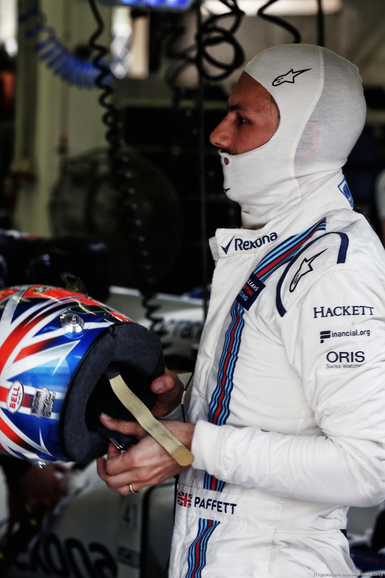 TEST F1 BAHRAIN 19 APRILE, Gary Paffett (GBR) Williams Test Driver. 19.04.2017.
