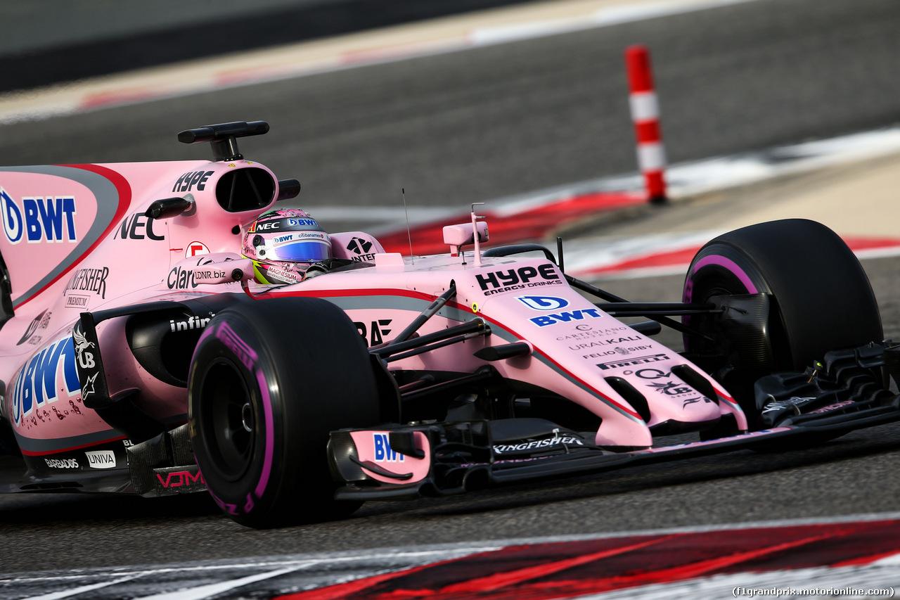 TEST F1 BAHRAIN 19 APRILE, Sergio Perez (MEX) Sahara Force India F1 VJM10. 19.04.2017.