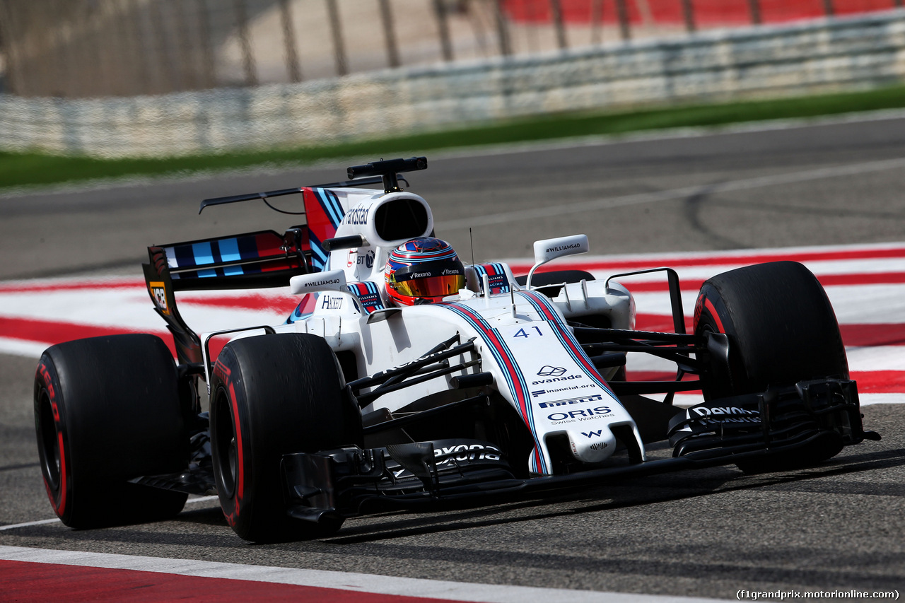 TEST F1 BAHRAIN 19 APRILE, Gary Paffett (GBR) Williams FW40 Test Driver. 19.04.2017.