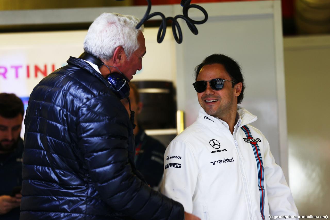 TEST F1 BARCELLONA 10 MARZO, Felipe Massa (BRA) Williams e Lawrence Stroll (CAN) father of Lance Stroll (CDN)  10.03.2017.