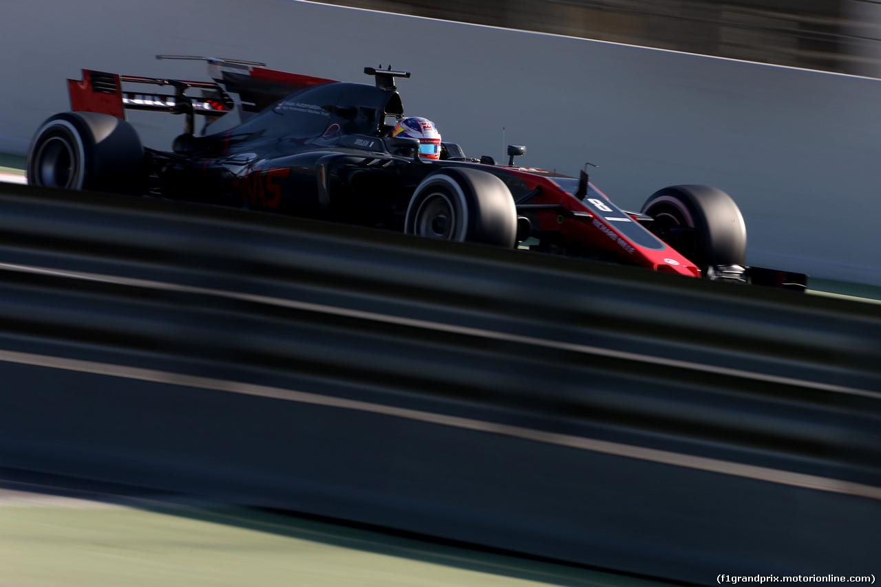 TEST F1 BARCELLONA 10 MARZO, Romain Grosjean (FRA) Haas F1 Team  10.03.2017.