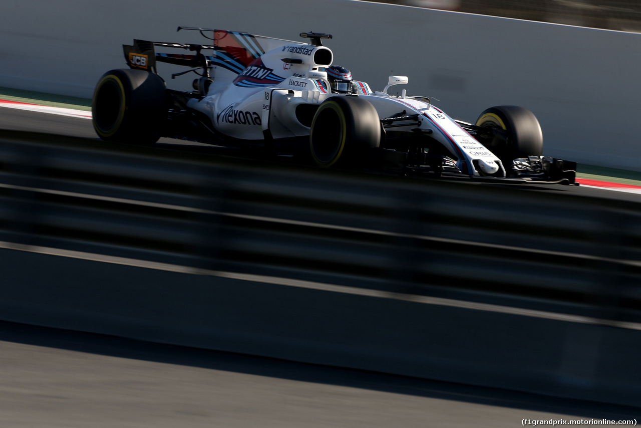TEST F1 BARCELLONA 10 MARZO, Lance Stroll (CDN) Williams F1 Team  10.03.2017.