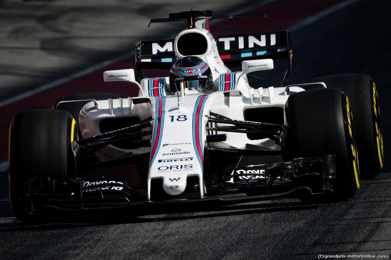 TEST F1 BARCELLONA 10 MARZO, Lance Stroll (CDN) Williams FW40. 10.03.2017.