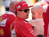 TEST F1 BARCELLONA 10 MARZO, Kimi Raikkonen (FIN) Ferrari with his son Robin. 10.03.2017.