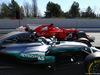 TEST F1 BARCELLONA 1 MARZO, Valtteri Bottas (FIN) Mercedes AMG F1 W08 e Sebastian Vettel (GER) Ferrari SF70H. 01.03.2017.