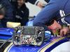TEST F1 BARCELLONA 1 MARZO, 01.03.2017 - Steering wheel of Marcus Ericsson (SUE) Sauber C36