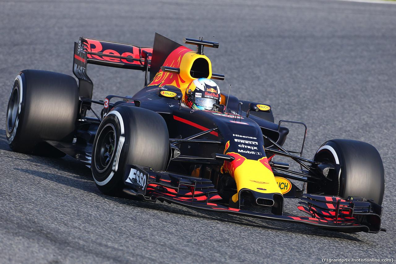 TEST F1 BARCELLONA 27 FEBBRAIO, Daniel Ricciardo (AUS) Red Bull Racing RB13. 27.02.2017.