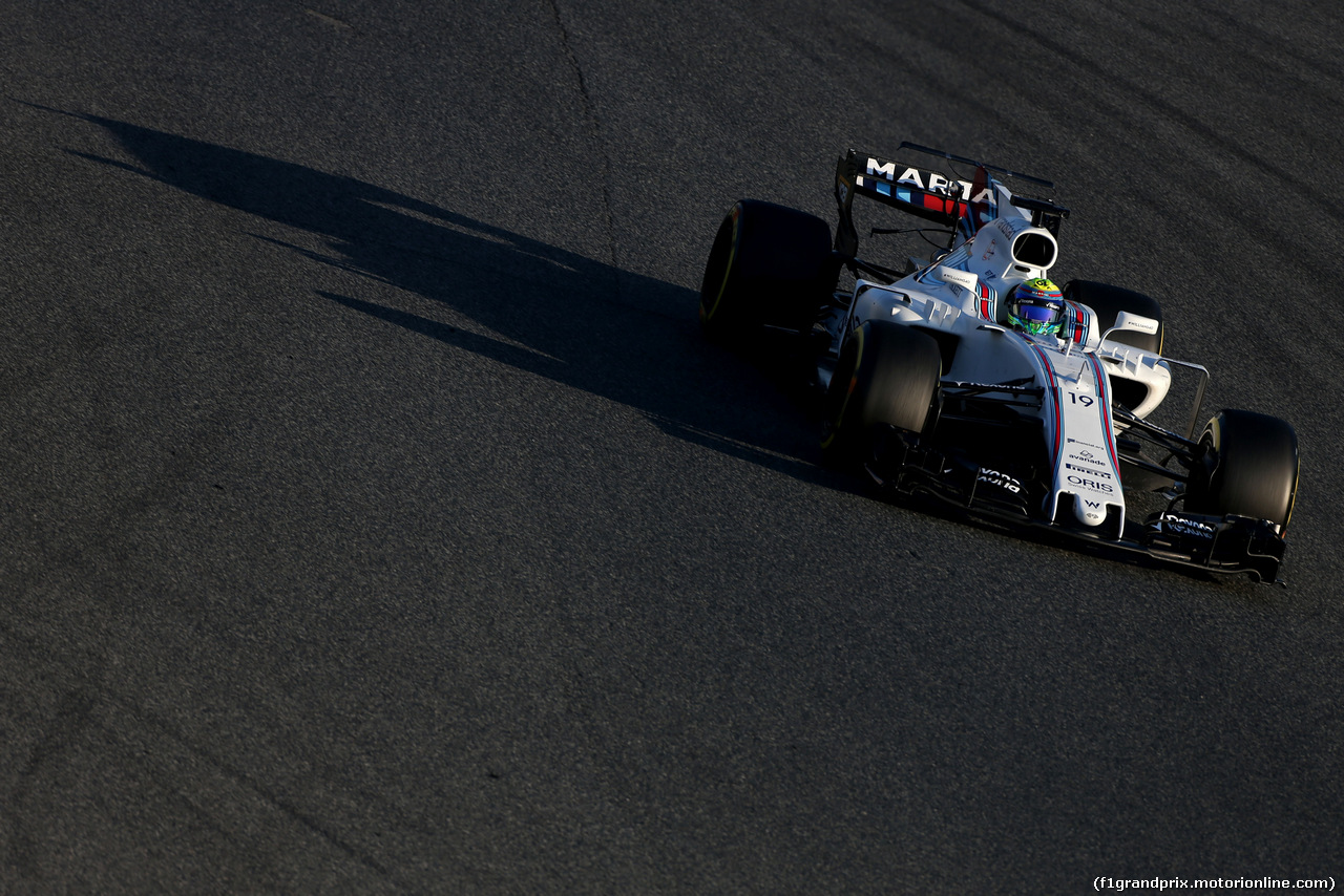 TEST F1 BARCELLONA 27 FEBBRAIO, Felipe Massa (BRA) Williams F1 Team  27.02.2017.
