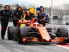 TEST F1 BARCELLONA 28 FEBBRAIO, Stoffel Vandoorne (BEL) McLaren MCL32 pushed down the pit lane by meccanici. 28.02.2017.