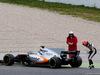 TEST F1 BARCELLONA 28 FEBBRAIO, Esteban Ocon (FRA) Sahara Force India F1 VJM10 stops on the circuit. 28.02.2017.
