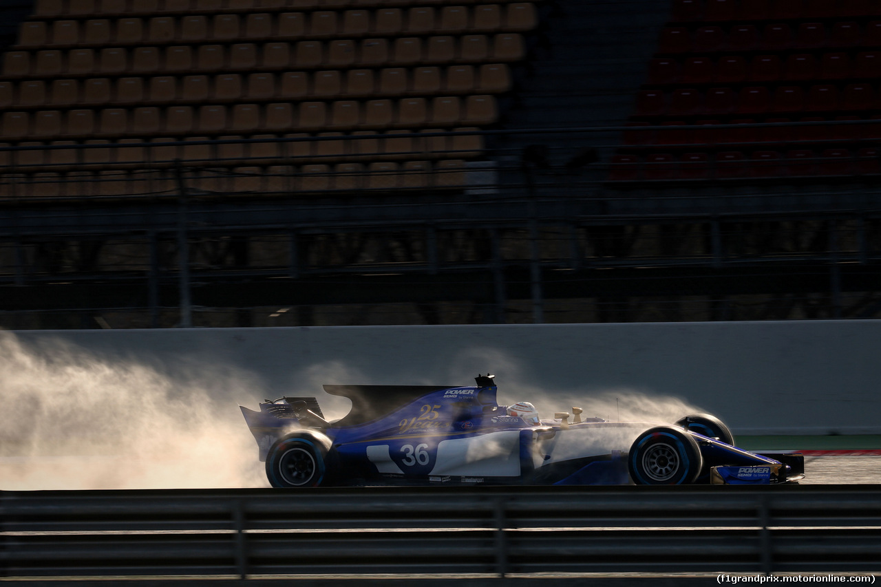 TEST F1 BARCELLONA 2 MARZO, Antonio Giovinazzi (ITA) Sauber C36. 02.03.2017.