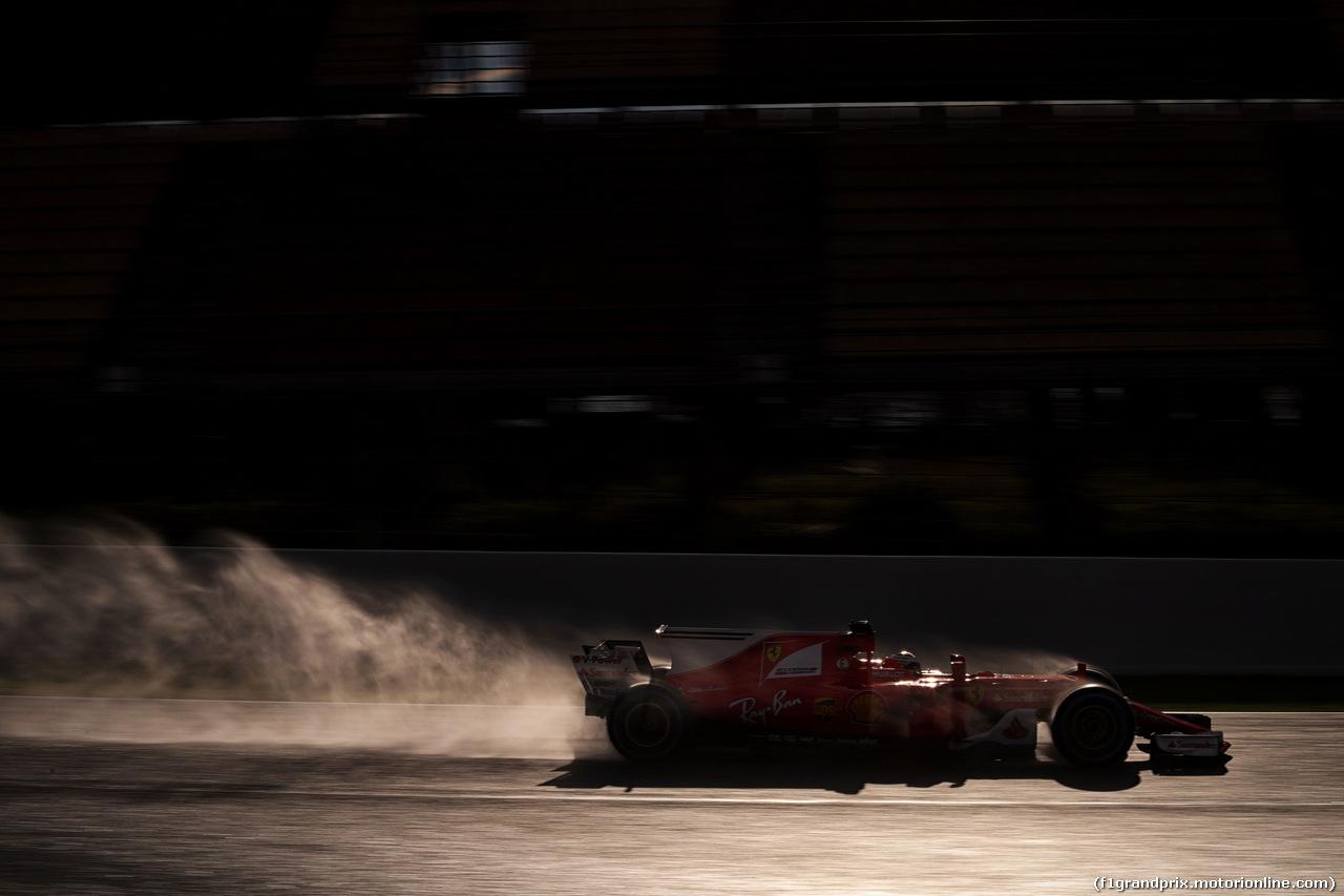 TEST F1 BARCELLONA 2 MARZO, Kimi Raikkonen (FIN) Ferrari SF70H. 02.03.2017.