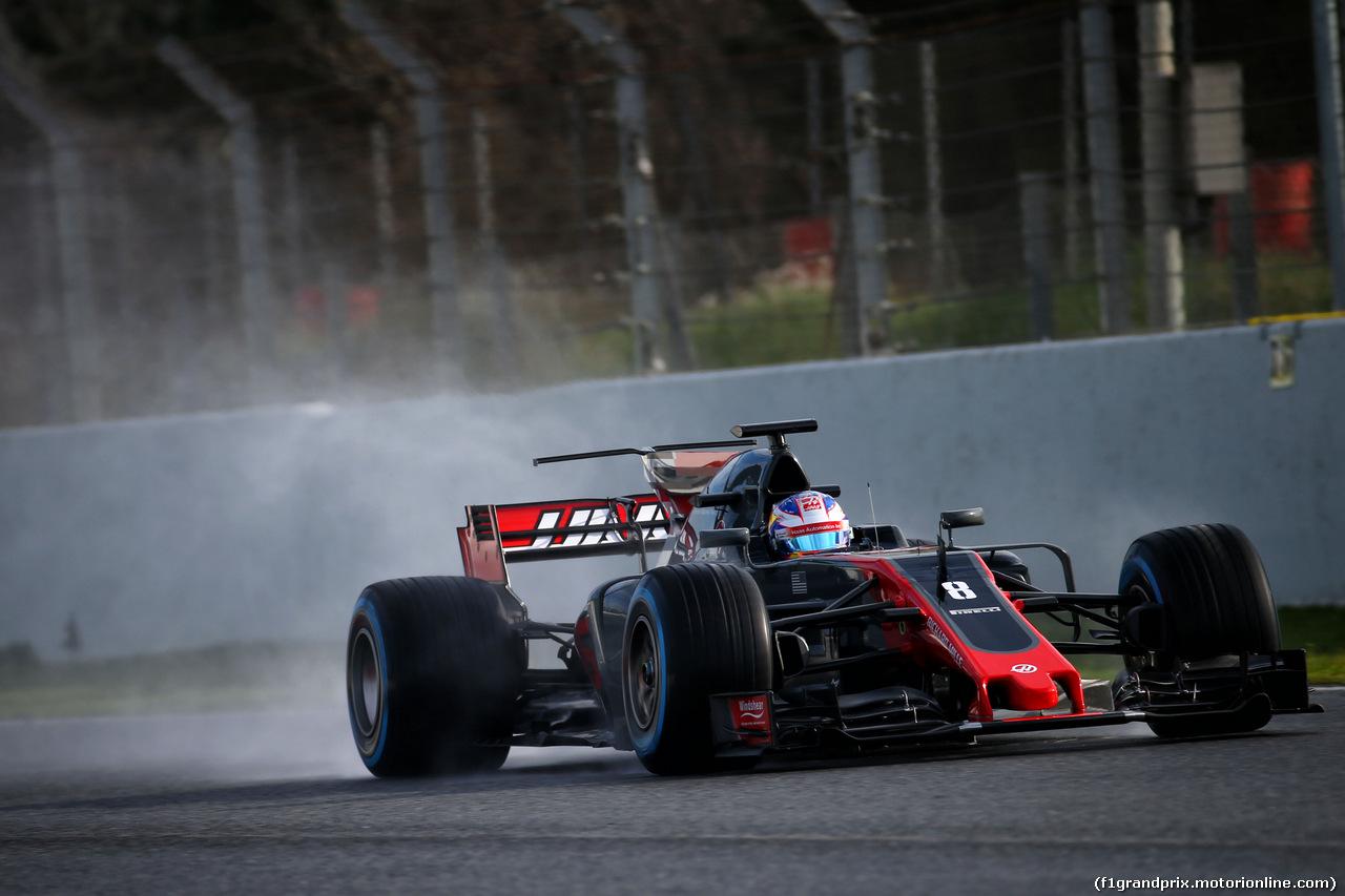 TEST F1 BARCELLONA 2 MARZO, Romain Grosjean (FRA) Haas F1 Team VF-17. 02.03.2017.