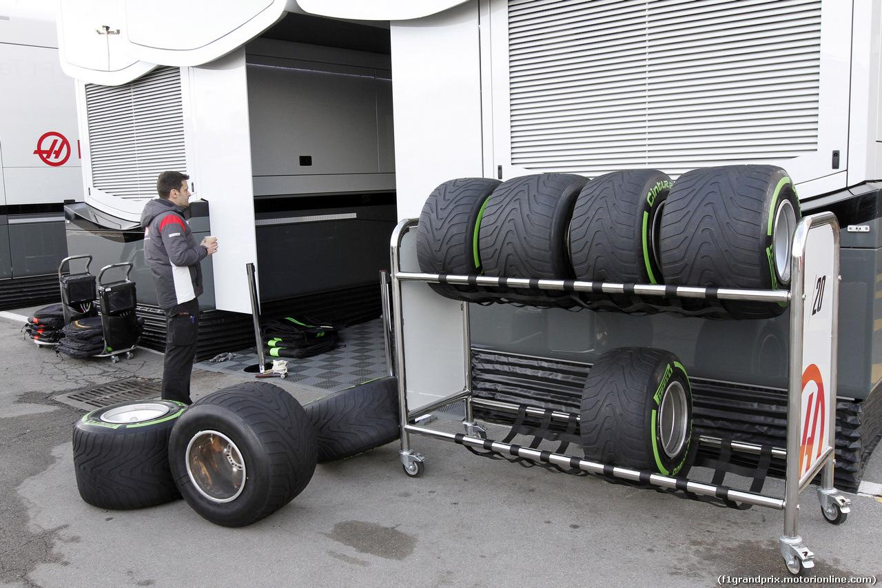 TEST F1 BARCELLONA 2 MARZO, 02.03.2017 - Pirelli Tyres